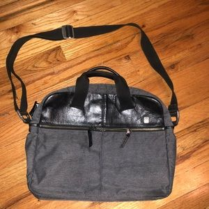 Tumi Tech Leather Twill computer messenger bag